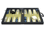 picture of Dal Negro Composite Fiber/Leatherette Backgammon Set - Calypso Blue with Gold Field (4 of 10)