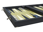 picture of Dal Negro Composite Fiber/Leatherette Backgammon Set - Calypso Blue with Gold Field (5 of 10)