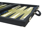 picture of Dal Negro Composite Fiber/Leatherette Backgammon Set - Calypso Blue with Gold Field (6 of 10)