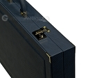 picture of Dal Negro Composite Fiber/Leatherette Backgammon Set - Calypso Blue with Gold Field (10 of 10)