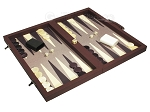 picture of Dal Negro Composite Fiber/Leatherette Backgammon Set - Bordeaux (2 of 10)