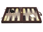 picture of Dal Negro Composite Fiber/Leatherette Backgammon Set - Bordeaux (4 of 10)