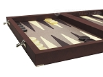 picture of Dal Negro Composite Fiber/Leatherette Backgammon Set - Bordeaux (5 of 10)