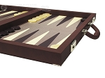picture of Dal Negro Composite Fiber/Leatherette Backgammon Set - Bordeaux (6 of 10)