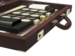 picture of Dal Negro Composite Fiber/Leatherette Backgammon Set - Bordeaux (7 of 10)