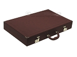 picture of Dal Negro Composite Fiber/Leatherette Backgammon Set - Bordeaux (9 of 10)