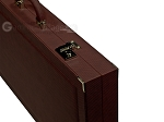 picture of Dal Negro Composite Fiber/Leatherette Backgammon Set - Bordeaux (10 of 10)