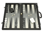 Dal Negro Composite Fiber/Leatherette Backgammon Set - Black - Item: 2716