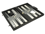 picture of Dal Negro Composite Fiber/Leatherette Backgammon Set - Black (2 of 10)