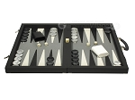 picture of Dal Negro Composite Fiber/Leatherette Backgammon Set - Black (4 of 10)