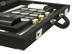 picture of Dal Negro Composite Fiber/Leatherette Backgammon Set - Black (7 of 10)
