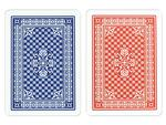 Copag Red/Blue Wide Pinochle Index Card - Double Deck
