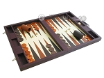 picture of Dal Negro Eco Leather Backgammon Set - Brown (2 of 11)