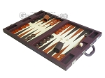 picture of Dal Negro Eco Leather Backgammon Set - Brown (3 of 11)