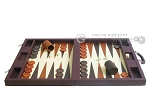 picture of Dal Negro Eco Leather Backgammon Set - Brown (4 of 11)