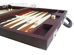 picture of Dal Negro Eco Leather Backgammon Set - Brown (6 of 11)