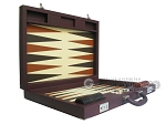 picture of Dal Negro Eco Leather Backgammon Set - Brown (8 of 11)