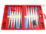 Dal Negro Eco Leather Backgammon Set - Red - Item: 2382