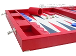 picture of Dal Negro Eco Leather Backgammon Set - Red (5 of 11)