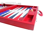 picture of Dal Negro Eco Leather Backgammon Set - Red (6 of 11)