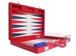 picture of Dal Negro Eco Leather Backgammon Set - Red (8 of 11)