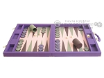 picture of Dal Negro Cialux Backgammon Set - Purple (4 of 11)