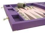 picture of Dal Negro Cialux Backgammon Set - Purple (5 of 11)