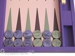 picture of Dal Negro Cialux Backgammon Set - Purple (7 of 11)