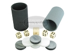 All-In-One Combo - Black High Gloss Mother-Of-Pearl - 1 3/8 in. Checkers - Item: 1503