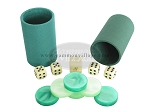 All-In-One Combo - Green High Gloss Mother-Of-Pearl - 1 3/8 in. Checkers - Item: 1500
