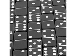 picture of DOUBLE 6 Dominoes Black Tiles with White Dots in Black Vinyl Case (2 of 2)