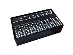 DOUBLE 9 Black Dominoes Set - With Spinners - Arcadian Black Box - Item: 3091