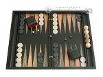 Black Backgammon Set with Racks - Peach - Item: 2299