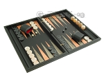 picture of Black Backgammon Set with Racks - Peach (2 of 12)