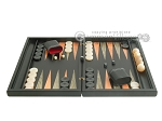 picture of Black Backgammon Set with Racks - Peach (4 of 12)