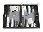 Hector Saxe Leatherette Travel Backgammon Set - Black - Item: 2526