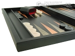 picture of Black Backgammon Set with Racks - Peach (5 of 12)