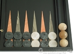 picture of Black Backgammon Set with Racks - Peach (8 of 12)