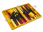 picture of Hector Saxe Faux Lizard Travel Backgammon Set - Yellow (2 of 12)