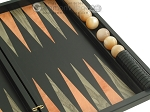 picture of Black Backgammon Set with Racks - Peach (10 of 12)