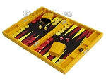 picture of Hector Saxe Faux Lizard Travel Backgammon Set - Yellow (3 of 12)