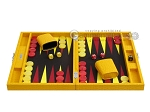 picture of Hector Saxe Faux Lizard Travel Backgammon Set - Yellow (4 of 12)