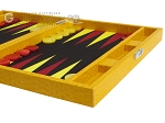 picture of Hector Saxe Faux Lizard Travel Backgammon Set - Yellow (6 of 12)