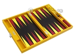 picture of Hector Saxe Faux Lizard Travel Backgammon Set - Yellow (10 of 12)