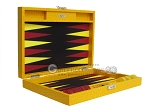 picture of Hector Saxe Faux Lizard Travel Backgammon Set - Yellow (11 of 12)