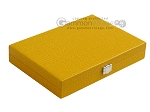 picture of Hector Saxe Faux Lizard Travel Backgammon Set - Yellow (12 of 12)
