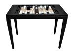 Lacquered Backgammon Table - Black - Item: 4034