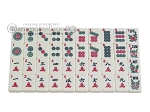 picture of White Swan Mah Jongg - Ivory Tiles - Classic Pusher Arms - Aluminum Case - Pink (10 of 10)