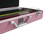 picture of White Swan Mah Jongg™ - White Tiles - Classic Pusher Arms - Aluminum Case - Pink (4 of 10)