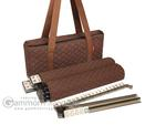 Soft-Sided American Mah Jongg Set by Linda Li™ with Ivory Tiles and Modern Pushers - Brown Soft Bag